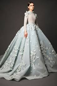 blue wedding dresses new design glamorous light blue wedding gown made flowers
