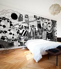 large black white owls designer wall mural milton king owls have more fun wall mural from wallpaper republic
