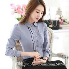 business blouses 2018 fashion style business office shirts contrast