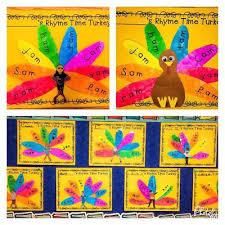 rhyme time turkeys thanksgiving bulletin board centers word