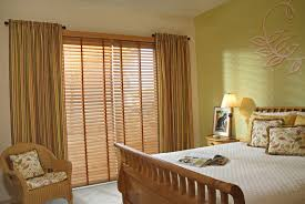 wooden blinds and curtains together home design ideas