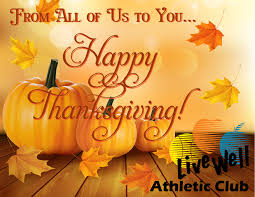 happy thanksgiving livewell club