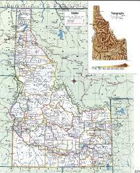 Idaho On Map Topographic Map Of Idahofree Maps Of North America