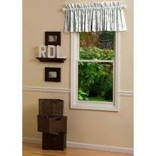 nursery rhyme toile window valance rod pocket carousel designs