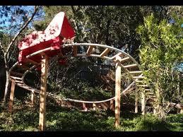 roller coaster for backyard backyard pvc roller coaster finished track youtube