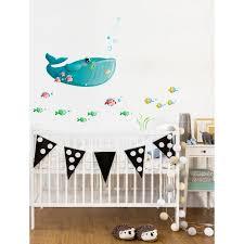 frise adhésive chambre bébé stickers mer frise baleine