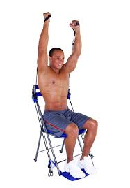 Exercise Chair As Seen On Tv Amazon Com Chair Gym Total Body Workout Blue Leg Exercise