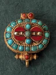 tibetan himalayan jewellery silver mounted with gemstones