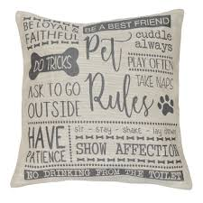 home decor u0027 u0027pet rules u0027 u0027 jacquard throw pillow