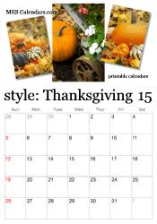 printable thanksgiving theme calendars november calendars and more