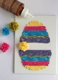 Easter Decorations Ks1 by Easter Egg Yarn Art Easter Yarns And Egg