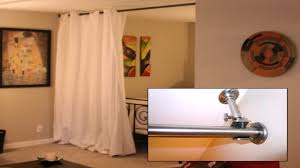 diy room divider diy room divider curtain youtube