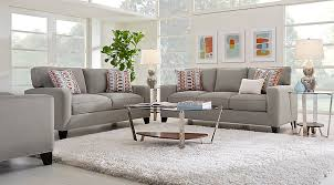 Steel Living Room Furniture Delancey Steel 5 Pc Living Room Living Room Sets Gray
