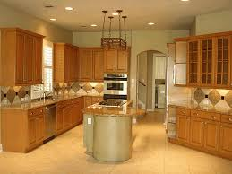 kitchen with wood cabinets teak wood flooring creamy laminate wood