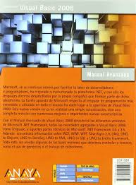 buy visual basic 2008 manuales avanzados book online at low