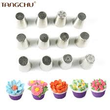 flower decorating tips diy flower decoration tips 12pcs wedding newest russia pastry