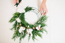 christmas cotton wreath diy u2022