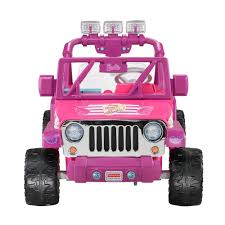 wrangler jeep pink power wheels barbie deluxe jeep wrangler 12 volt battery powered