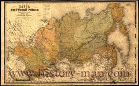 Russian Map In 1800 U0027s