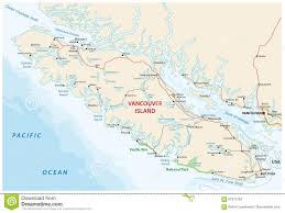 Vancouver Canada On World Map by Vector Map Of Canada Island Vancouver Island Stock Vector Image