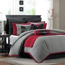 Grey Comforters Queen Bedding Design Fascinating Red And Grey Bedding Bedroom Pictures