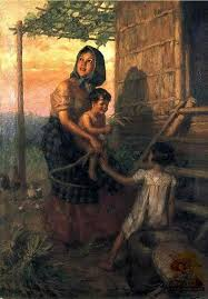 mother and children f amorsolo 1941 oil on canvas 102 5 by 72cm filipino artpainter