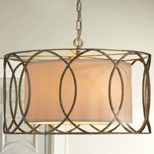Classic Pendant Lights Antique Classic Fabric And Copper Pendant Lighting 8779 Free