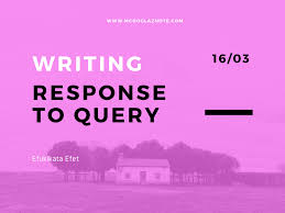query letter sample how to reply u0026 answer a query letter from