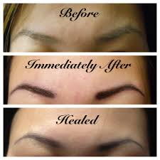 bloggerim eyebrow tattoo before after and healed photos 2