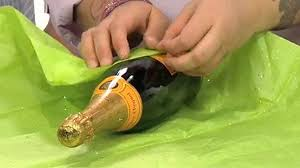 gift packaging for wine bottles how to gift wrap a chagne bottle