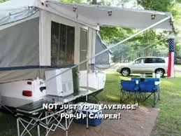 Awning For Tent Trailer Coachmen Clipper Sport 106 St Pop Up Camper Youtube