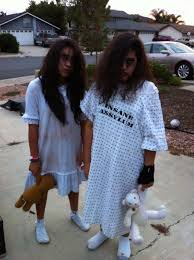 asylum patients scary girls halloween diy costumes halloween