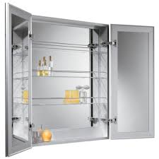 bathroom luxury lowes medicine cabinets in silver with mirror for