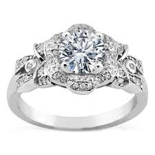 flower engagement rings engagement ring bows flower engagement ring in white