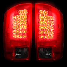 2003 dodge ram tail lights dodge ram 2500 3500 smoked red led tail lights recon 264171rbk