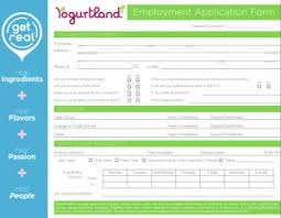 yogurtland application online printable employment form
