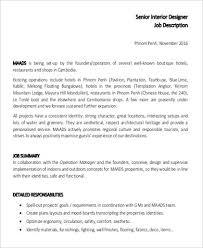 Interior Designer Job Description Junior Interior Designer Job Brokeasshome Com