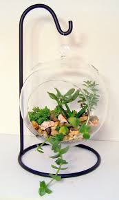 ornament holder hanging glass terrarium stand or ornament holder made of wrought