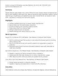 Cable Installer Resume Sample by Installation Electrician Cover Letter