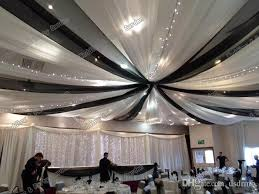 wedding ceiling draping 10m x 0 45m party black white ceiling drape canopy drapery for