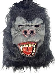 gorilla halloween mask animal gorilla masks partynutters uk