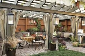 Covered Patio Decorating Ideas by Vintage Backyard Decors Featuring Pleasing Patio With Long