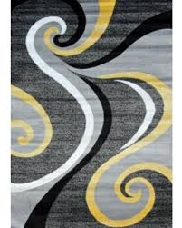 Modern Abstract Area Rugs Cyber Monday Sales On Persian Rugs 0327 Yellow Swirls Modern