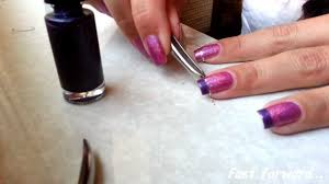 easy funky french manicure with striping tape youtube
