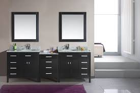 Double Sink Vanities For Small Bathrooms by Adorna 92 Inch Double Sink Bathroom Vanity Espresso Finish