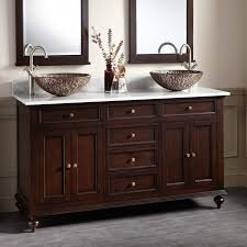 Keller Mahogany Double Vessel Sink Vanity Dark Espresso - Bathroom vanities double vessel sink
