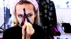 zip mask halloween halloween easy zipper make up look youtube