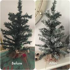 before and after dollar store tree hacks cheap