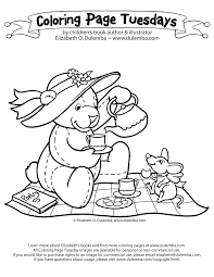 party colouring pages