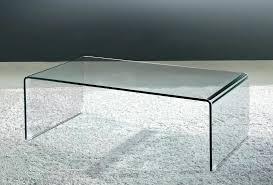 waterfall coffee table wood curved glass coffee table viva modern arch waterfall coffee table
